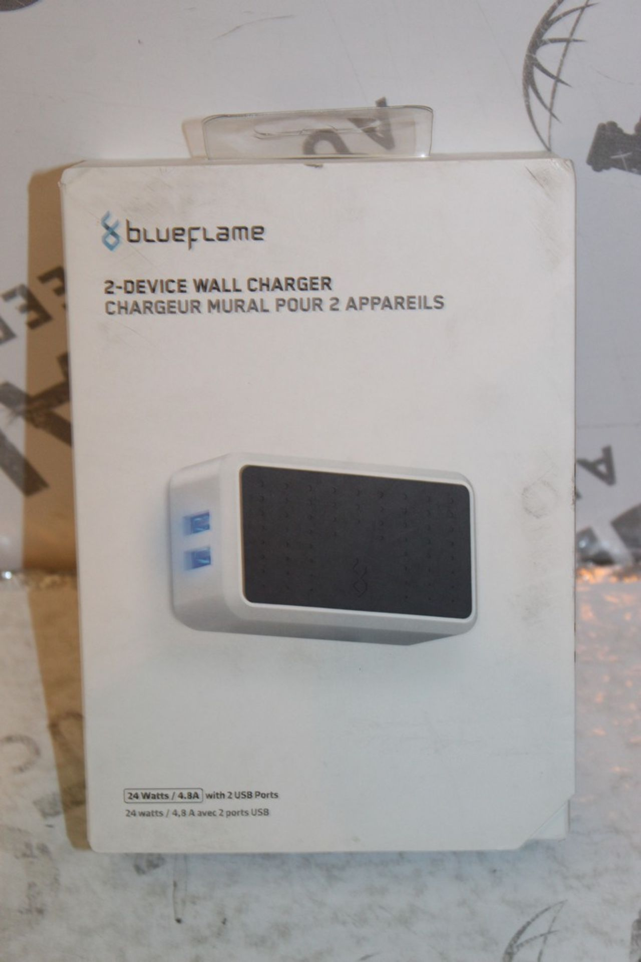 Lot 242 - Boxed Brand New Blue Flame The Duel 2 Device Wall Charger RRP £35