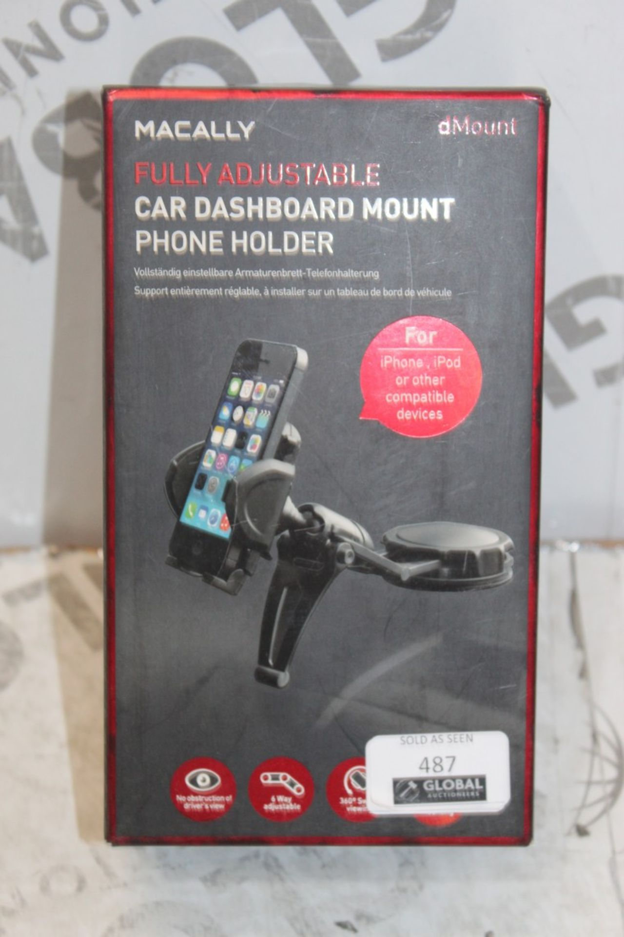 Los 487 - Boxed Macally Adjustable Universal Phone Mount Holders RRP £30 Each
