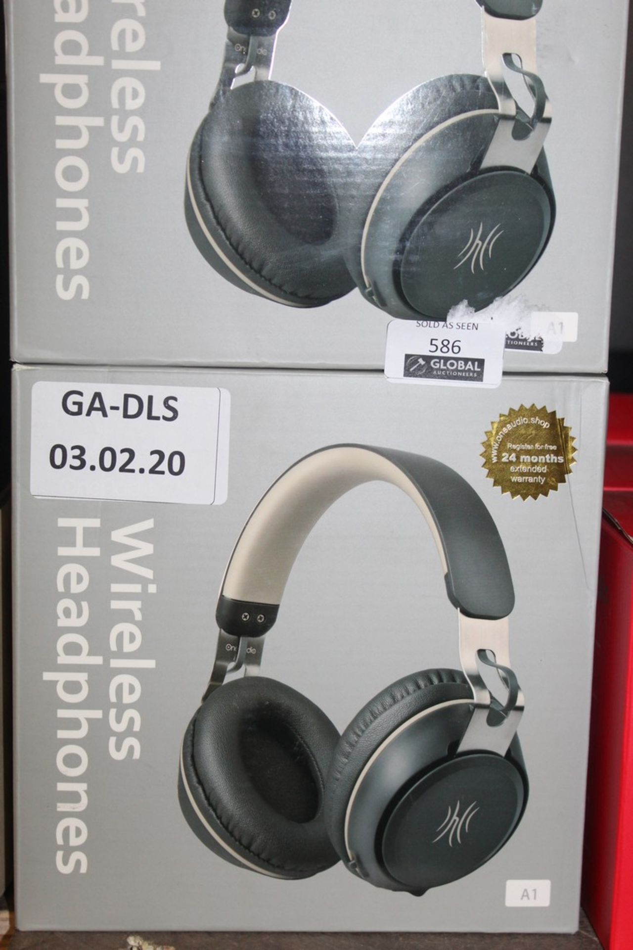 Lot 586 - Boxed Brand New OneOdio A1 Beige and Black Wireless Headphones RRP £30 Each