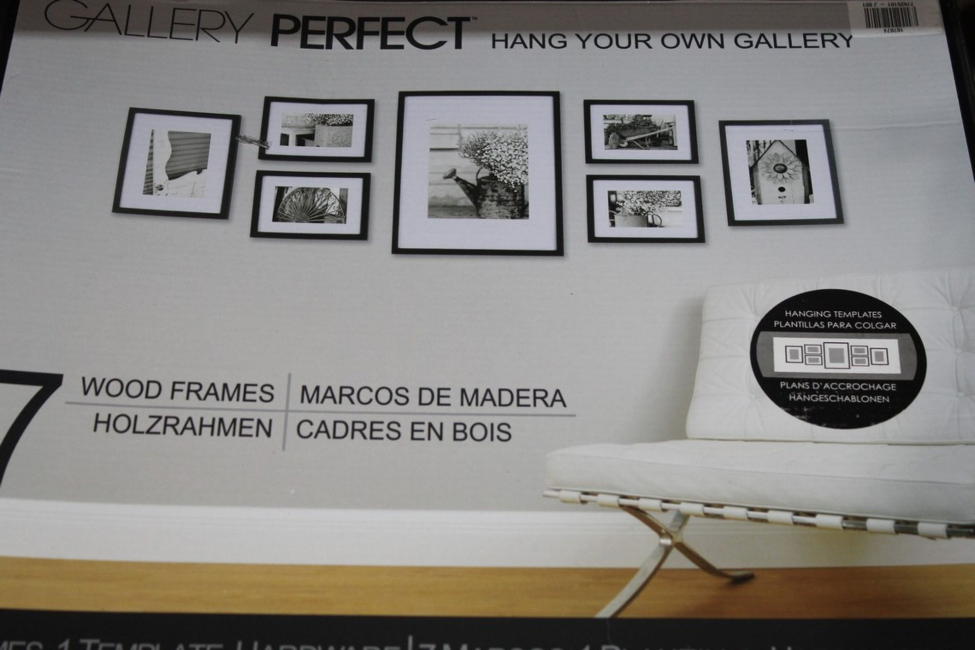 Lot 128 - Boxed Gallery Perfect Set of 7 Hang Your Own Picture Frames RRP £60 (167676) (44993467) (100005083)