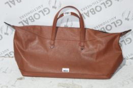 Ted Baker Tan Leather Holdall RRP £130 (RET01210519) (Appraisals Available)