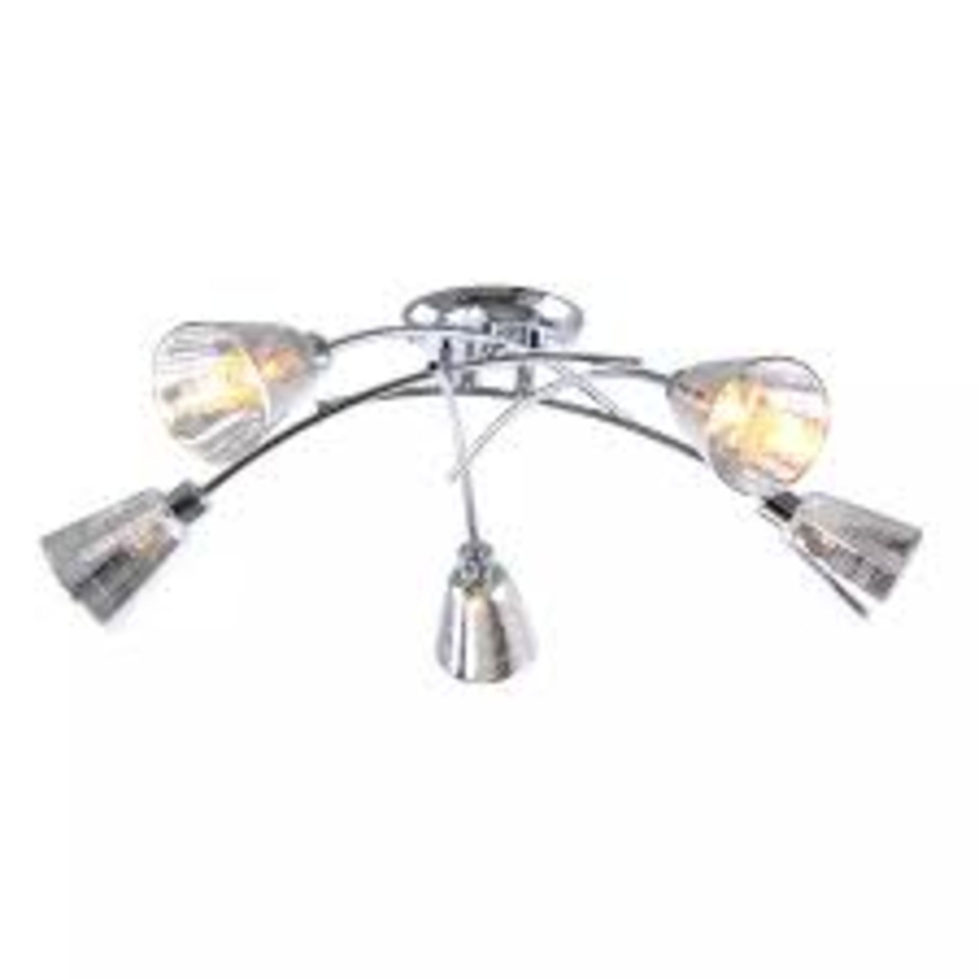 Lot 798 - Boxed Home Collection Louise 3 Lights Stainless Steel & Glass Ceiling Light RRP £80 (Appraisals