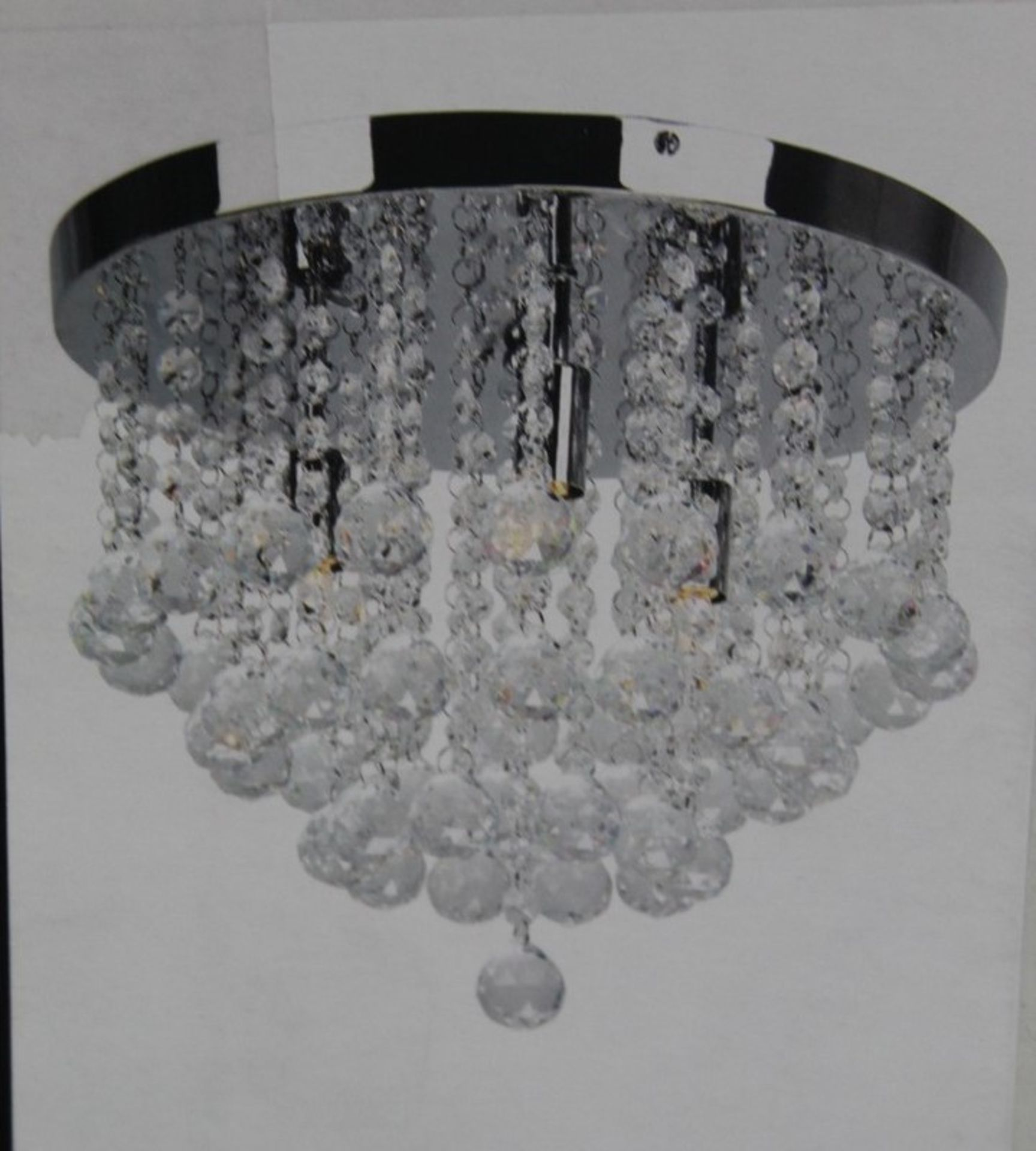 Lot 54 - Home Collection Lairyah Glass Droplets Ceiling Lig