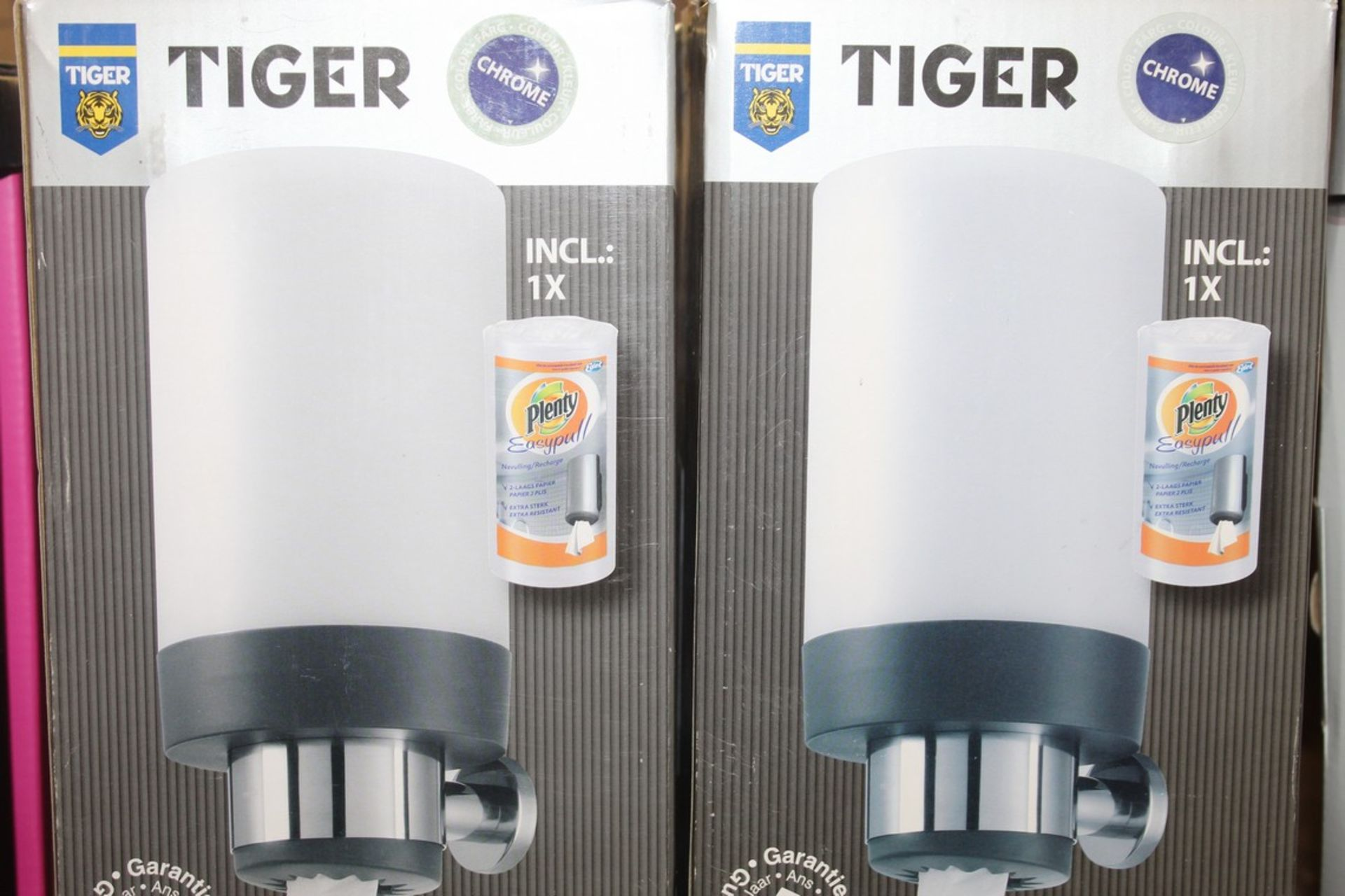 Lot 615 - Boxed Tiger Chrome Plated Boston Paper Towel Dispenser RRP £65 (18199) (Appraisals Available Upon