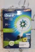 Lot to Contain 2Boxed Oral B Pro 650 Electric Toot