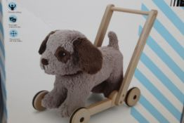 John Lewis & Partners Wooden Dog & Walker Push Along Dog RRP £75 (NBW668906) (Pictures Are For