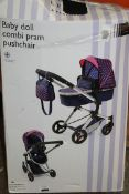 Boxed John Lewis & Partners Baby Doll Combi Pram & Pushchair RRP £60 (NBW655428) (Pictures Are For
