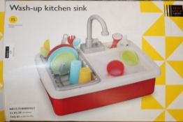 Boxed John Lewis & Partners Wash Up Toy Kitchen Sinks RRP £25 Each (NBW599338) (NBW641832) (