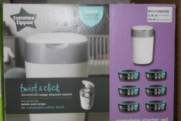 Boxed Tommee Tippee Twist & Click Sangenix Nappy Disposable Unit RRP £40 (NBW561653) (Pictures Are