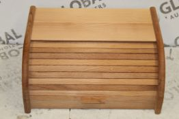 Solid Wooden Roll Top Bread Bin RRP £40 (NBW617361) (Pictures Are For Illustration Purposes Only) (