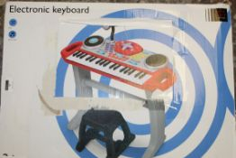 Boxed John Lewis & Partners Electronic Keyboard With Microphone & Stool RRP £40 (NBW629406) (