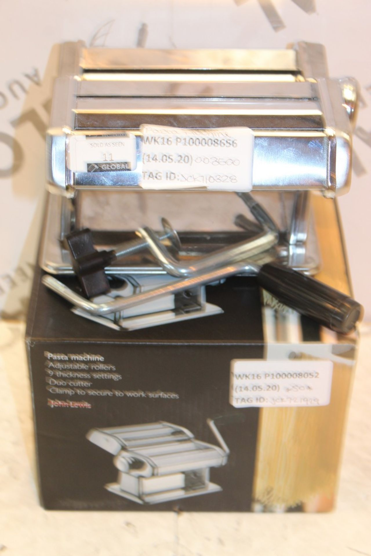 Lot 11 - Assorted Boxed John Lewis & Partners Stainless Steel Pasta Machine RRP £50 (710328) (721929) (