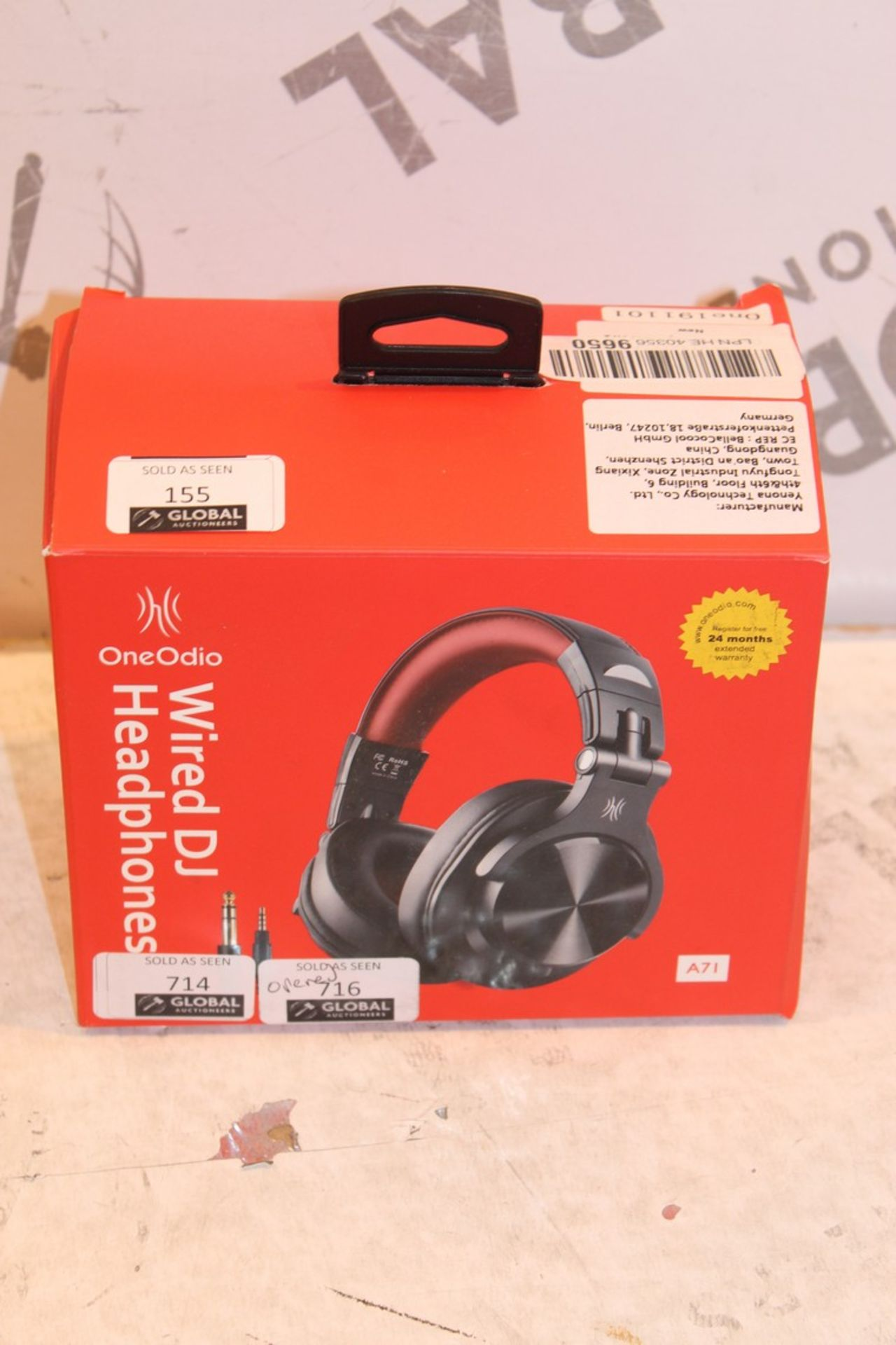 Lot 155 - Boxed One Audio Wireless DJ Headphones RRP £50 (Pictures Are For Illustration Purposes Only)(