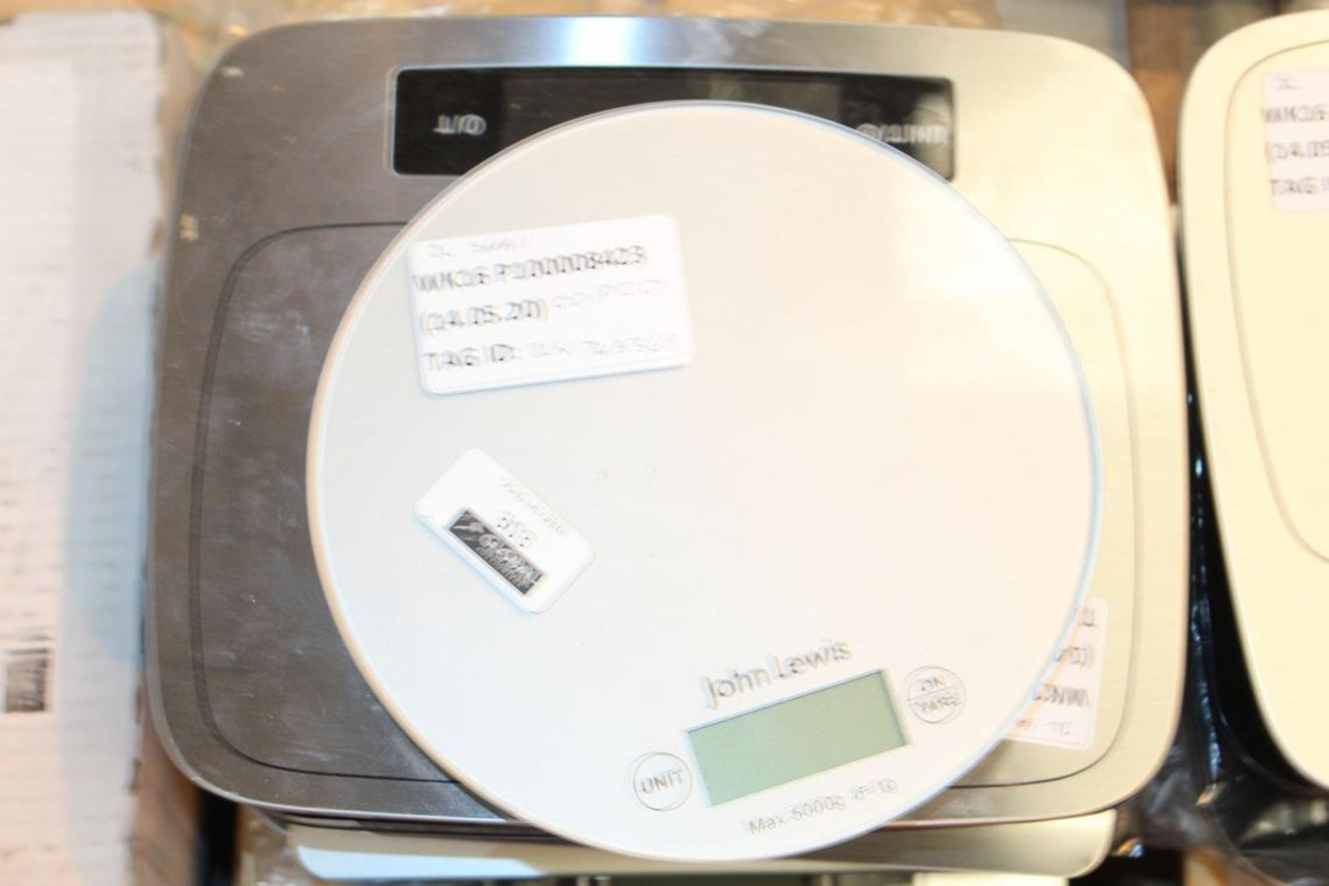 Lot 303 - Pairs Of John Lewis And Partners Digital Weighing Scales To In RRP £10-£20 Each (742398) (744573) (