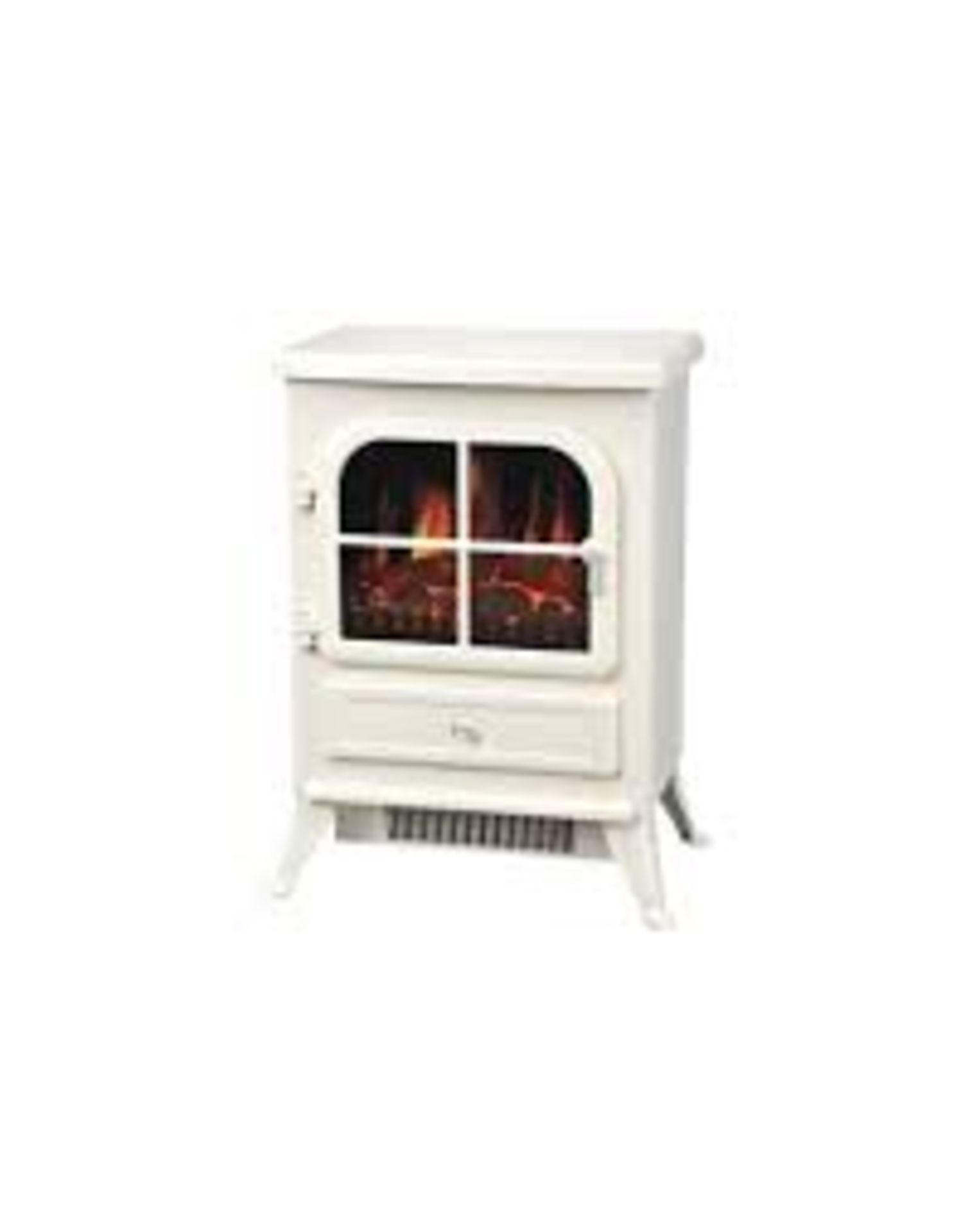 Lot 402 - Boxed Mama Flame Effect Cream Vista Stove Fire Place RRP £125 (13011) (Appraisals Are Available Upon