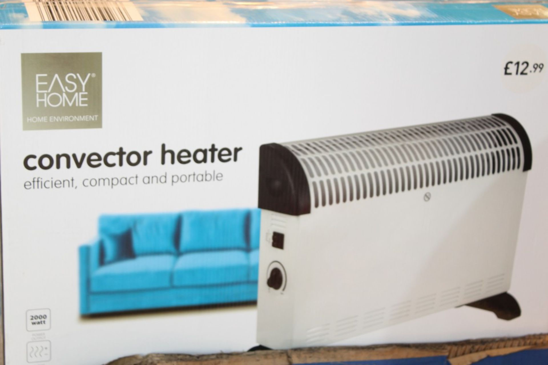 Lot 242 - Boxed Easy Home Efficient Compact & Portable Convector Heater RRP £15 Each (Pictures Are For
