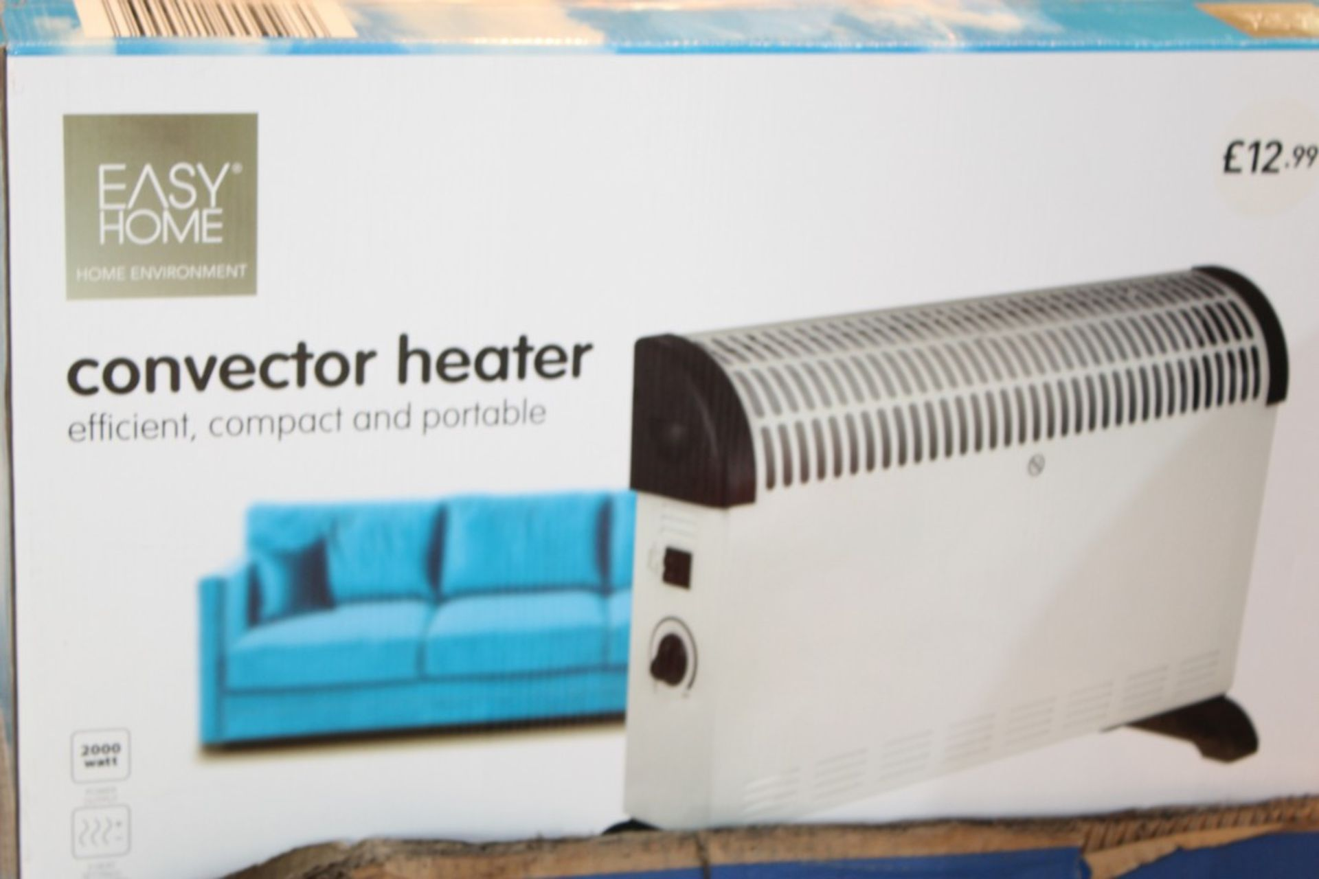 Lot 239 - Boxed Easy Home Efficient Compact & Portable Convector Heater RRP £15 Each (Pictures Are For