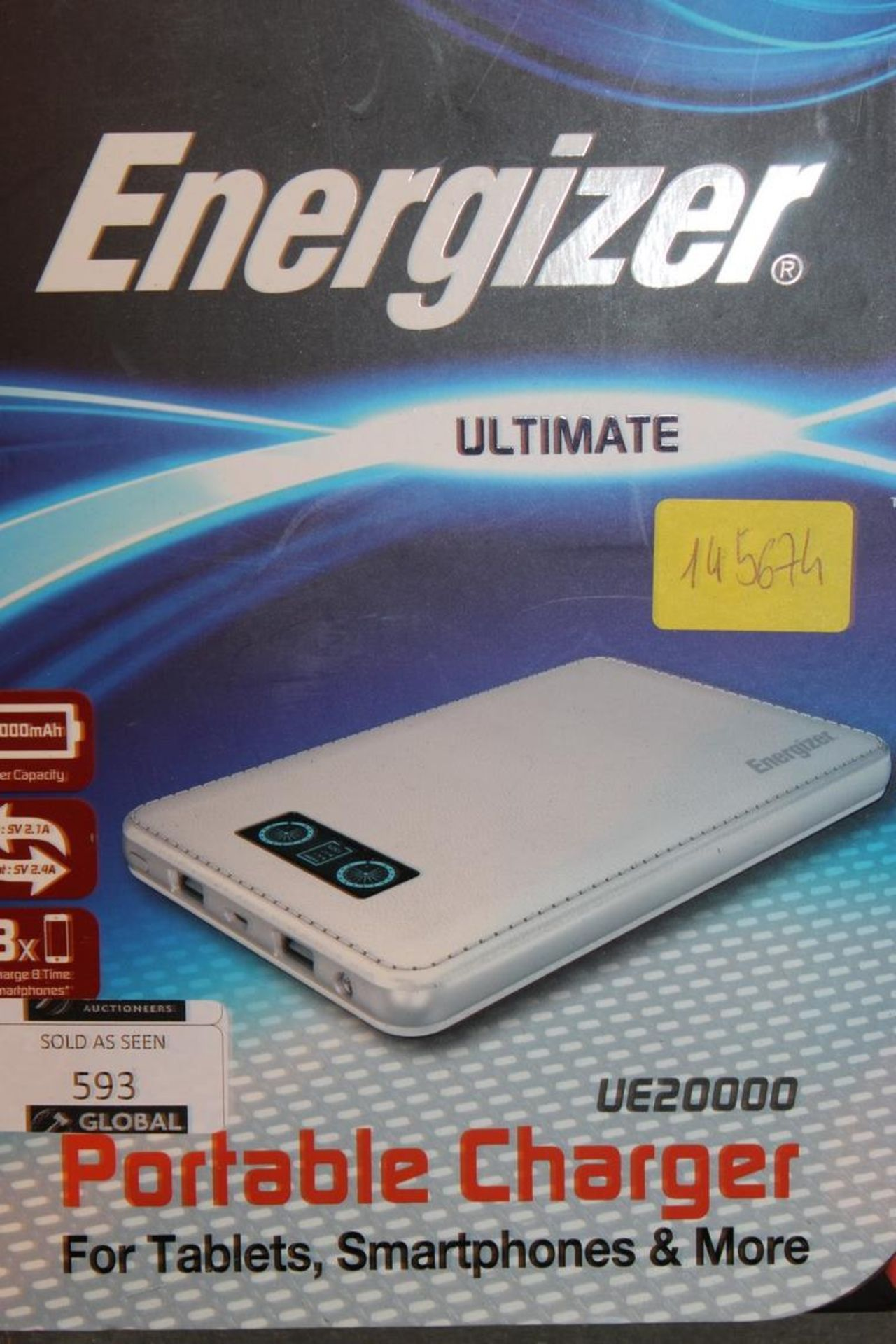 Lot 593 - Energiser Portable Ulitmate Charger RRP £60 (Pictures Are For Illustration Purposes Only)(Appraisals