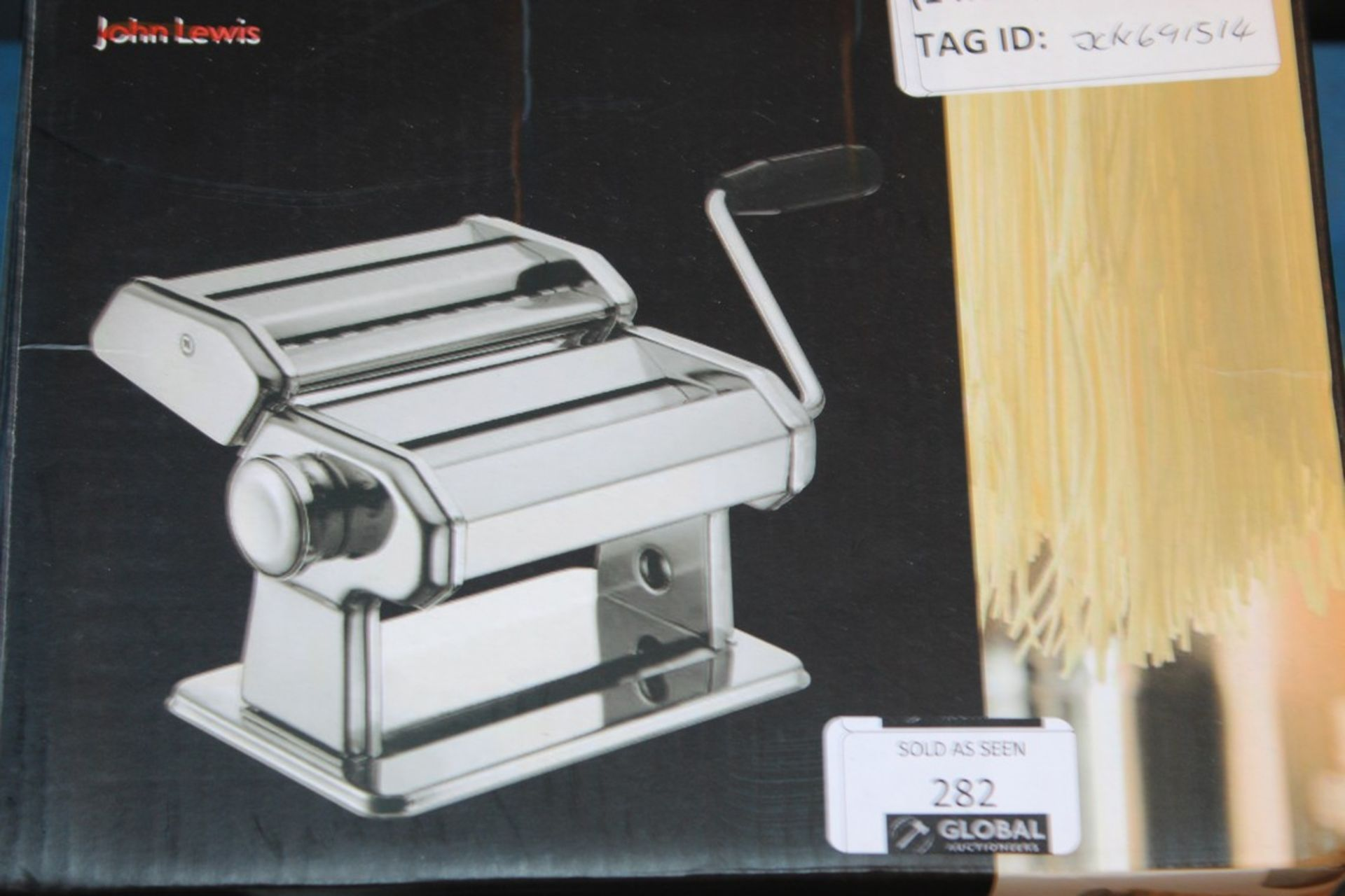 Lot 282 - Boxed John Lewis & Partners Adjustable Pasta Machine With 9 Thickness Settings RRP £50 (691514) (