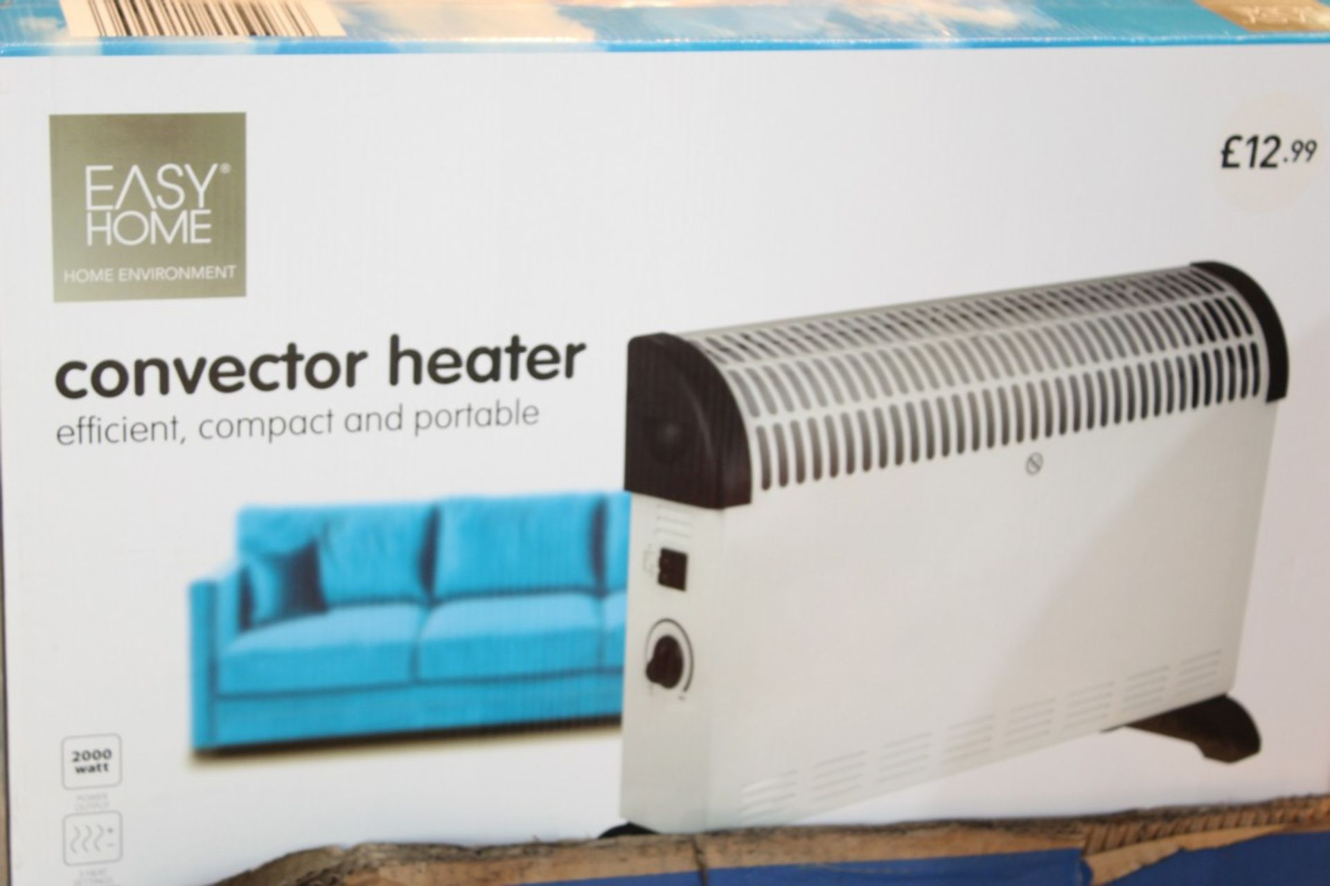 Lot 241 - Boxed Easy Home Efficient Compact & Portable Convector Heater RRP £15 Each (Pictures Are For