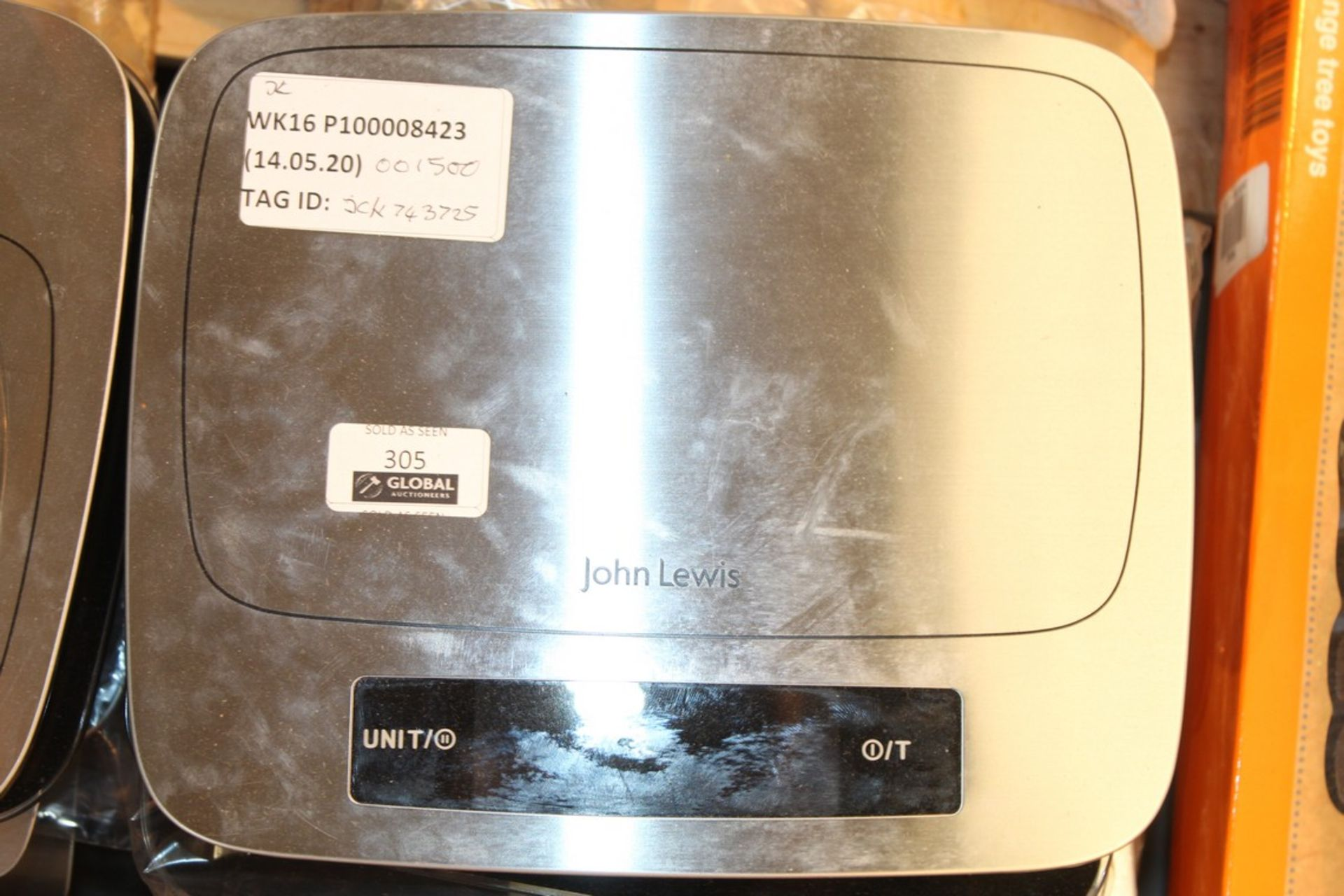 Lot 305 - Pairs Of John Lewis And Partners Digital Weighing Scales To In RRP £10-£20 Each (742398) (744573) (