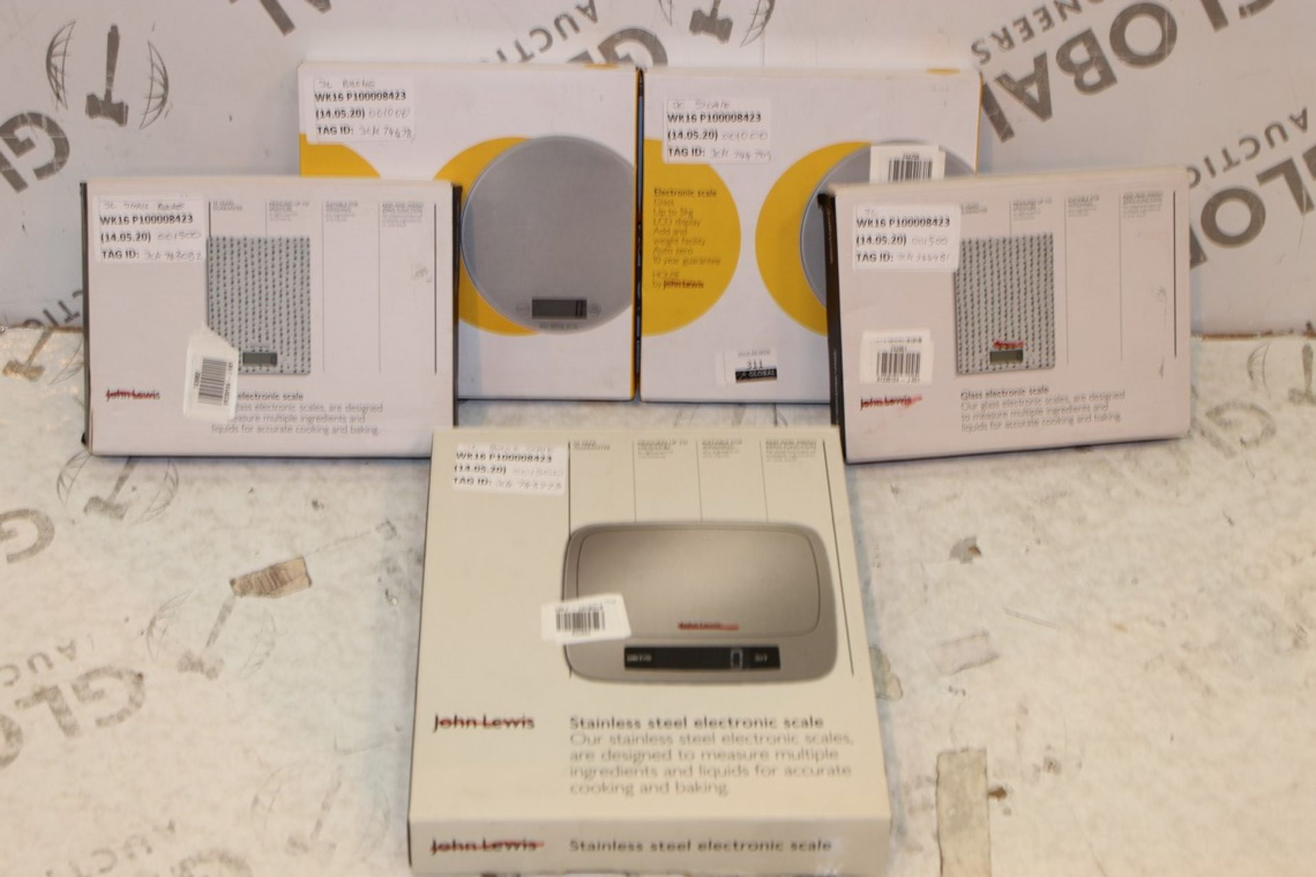 Lot 311 - Boxed Pairs Of John Lewis And Partners Digital Electronic Weighing Scales RRP £15 Each (743773) (
