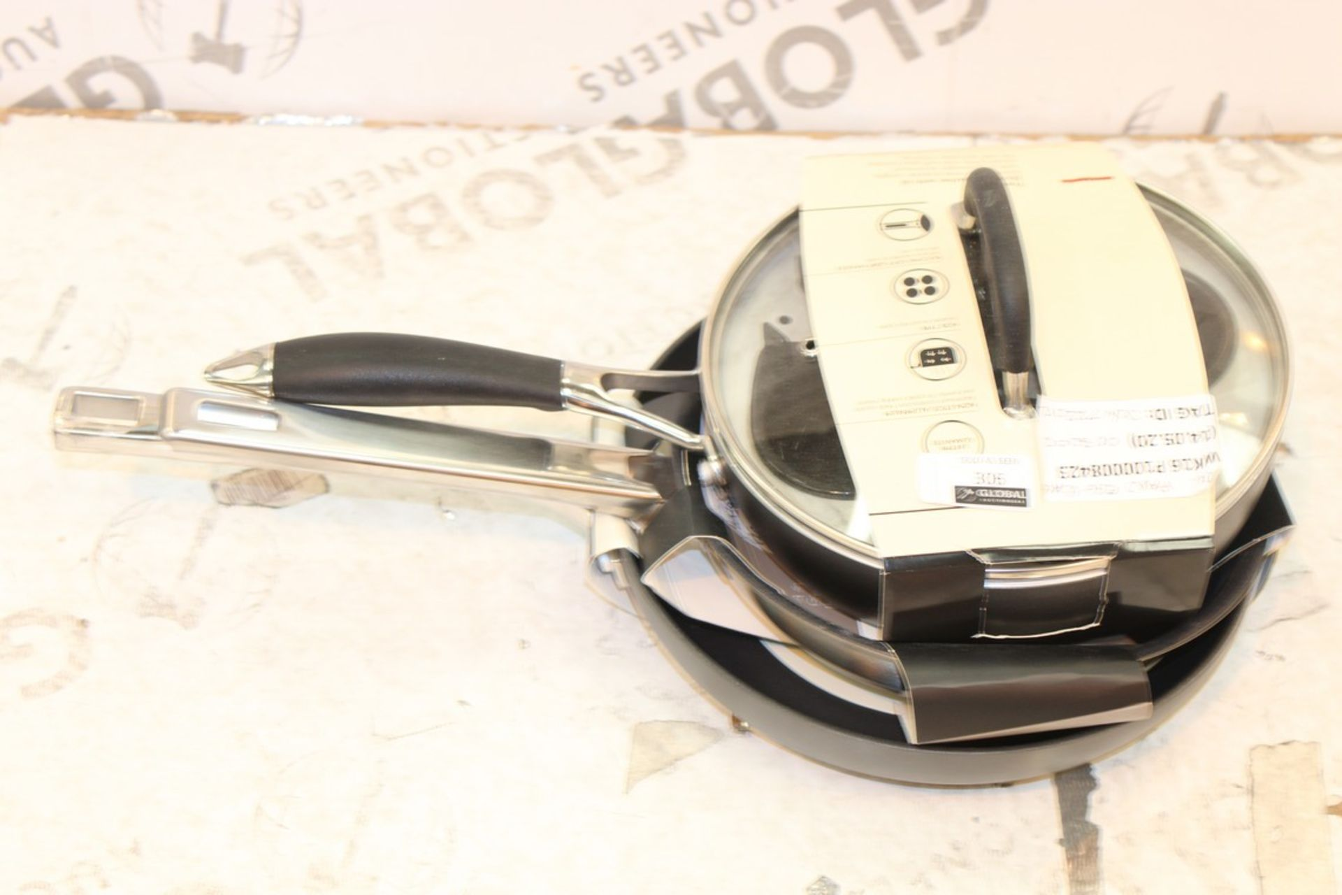 Lot 306 - Assorted Classic Steel Non Stick Frying Pans Large Non Stick Frying Pans And Egg Poaching Pans