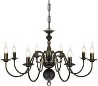 Boxed Antique Brass Chandelier Style Ceiling Light RRP £120 (14601) (Pictures For Illustration