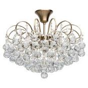 Boxed Willow Arlow Metal & Glass Ceiling Light Fitting (Glass Droplet Missing) RRP £155 (14532) (