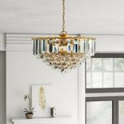 Boxed Enden Lighting Branford 3 Light Crystal Ceiling Light RRP £95 (14532) (Pictures For