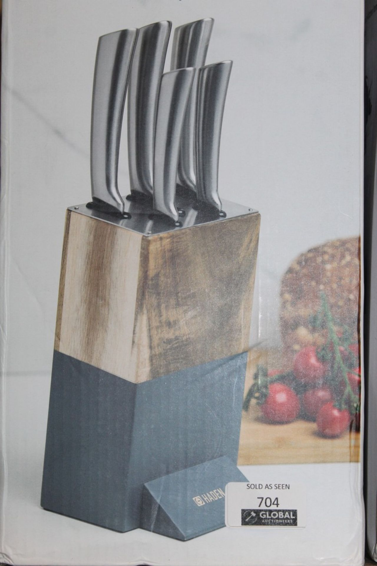 Boxed Hayden Perf Acacia Knife Block Set RRP £90 (Pictures Are For Illustration Purposes Only) (