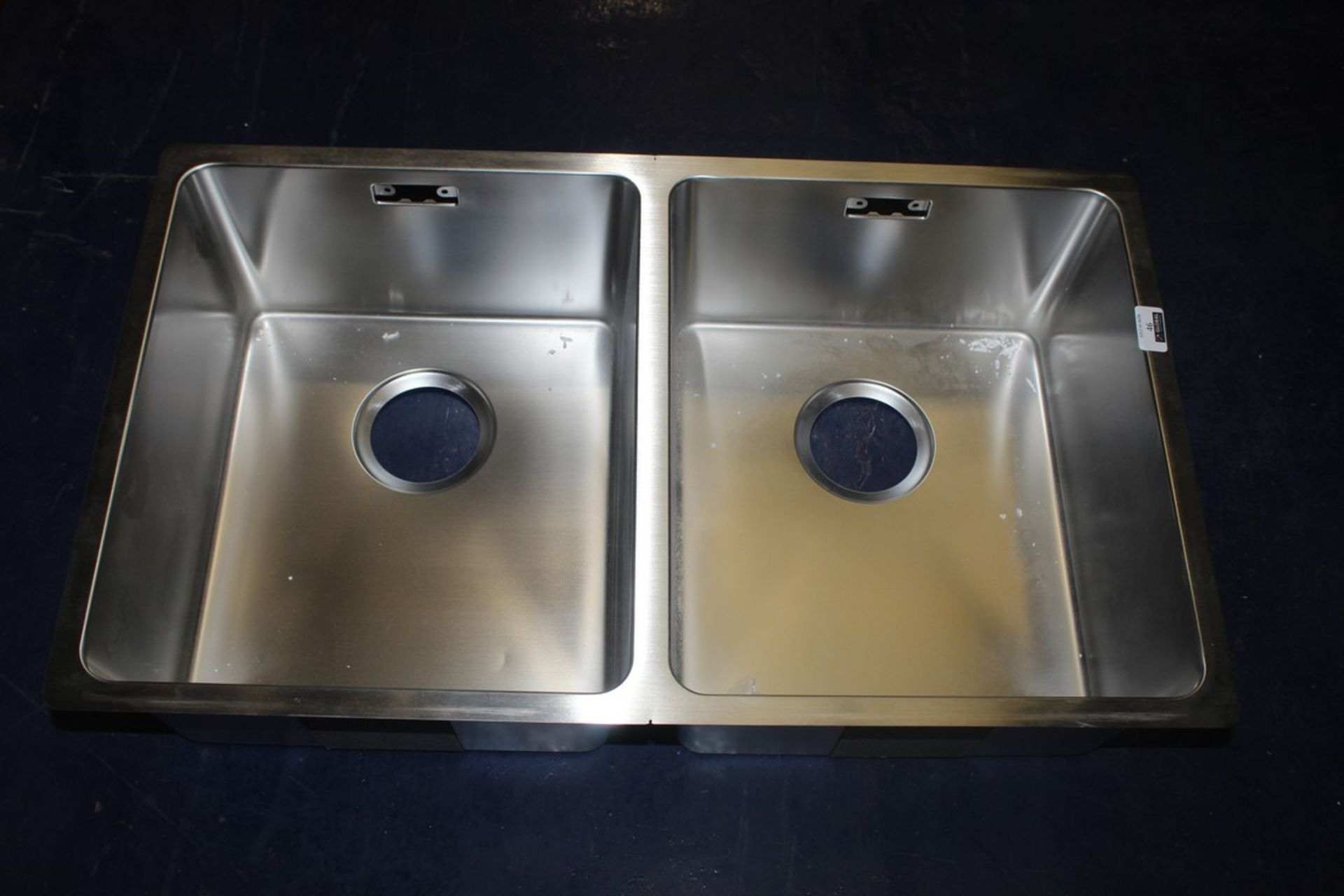 Lot 46 - Boxed Stainless Steel Double Undermount Sink Unit RRP £420 (193050) (Pictures Are For Illustration