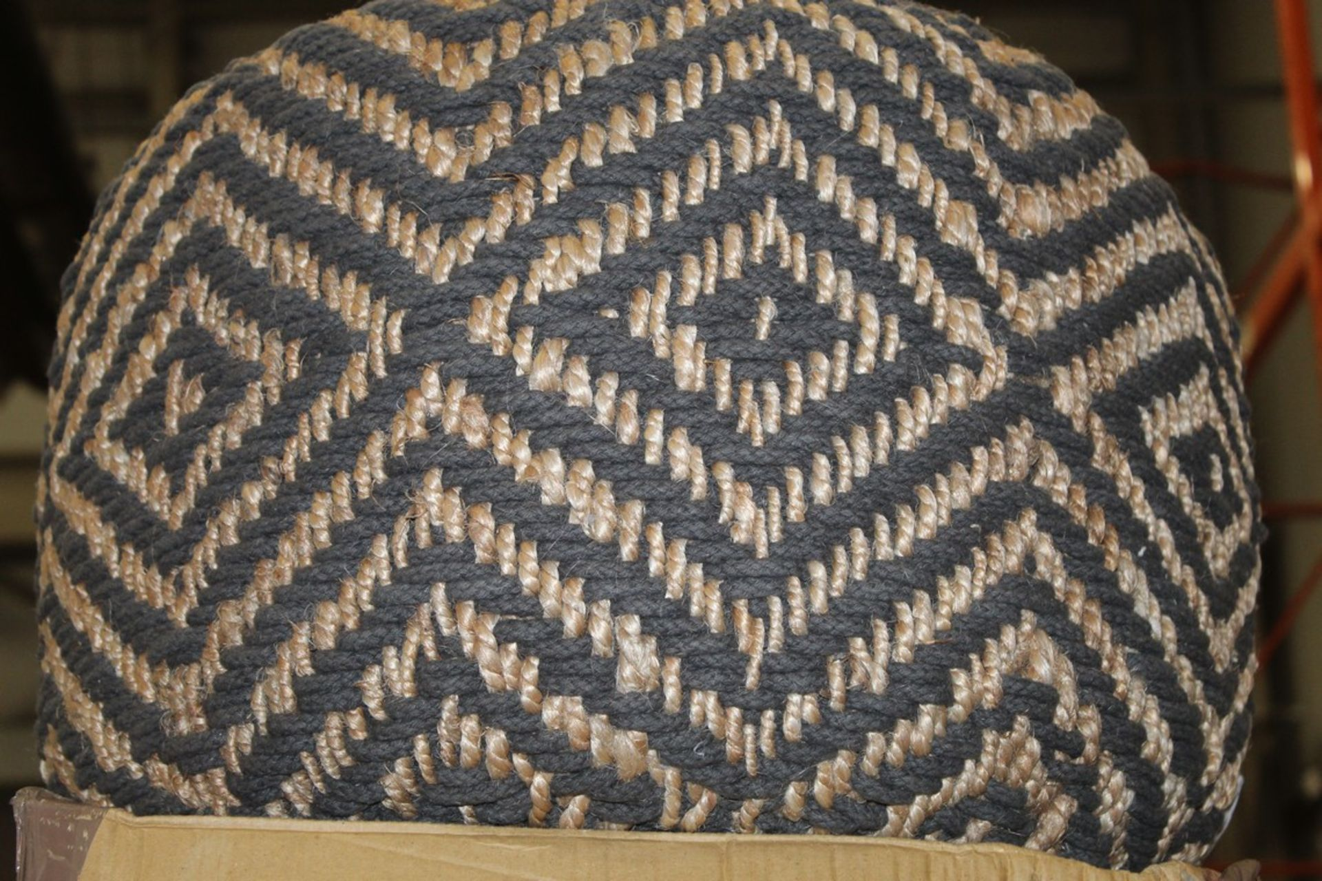 Lot 669 - Slate And Natural Foot Pouffe RRP £90 (Appraisals Are Available Upon Request) (Pictures Are For