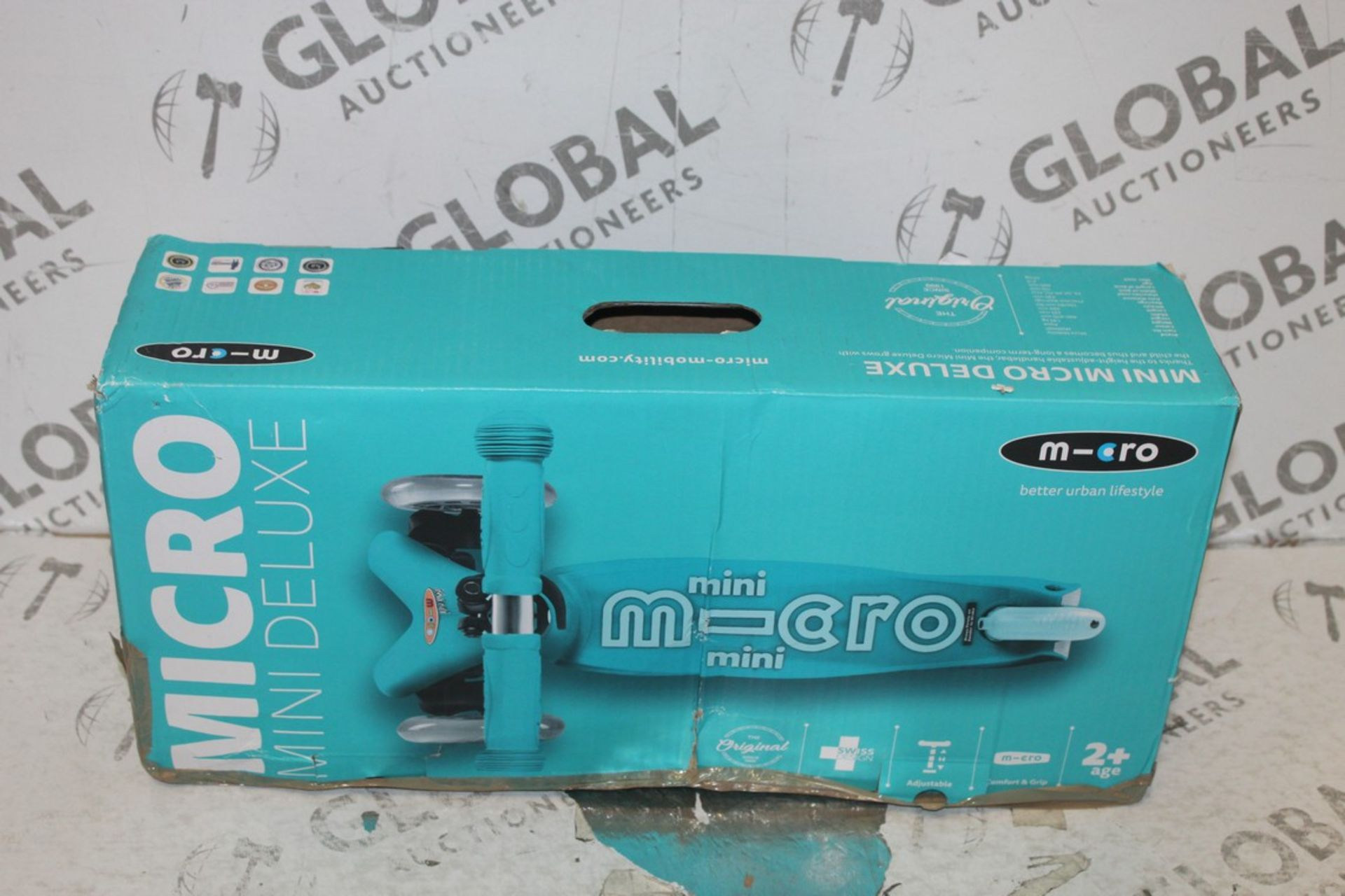 Lot 100 - Blue Boxed Micro Mini Deluxe Scooter RRP £80 (75361806) (Pictures Are For Illustration Purposes