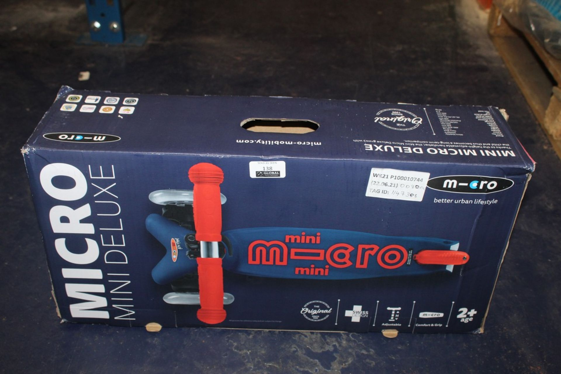 Lot 138 - Boxed Micro Mini Deluxe Scooter RRP £80 (1147388) (Pictures Are For Illustration Purposes Only) (