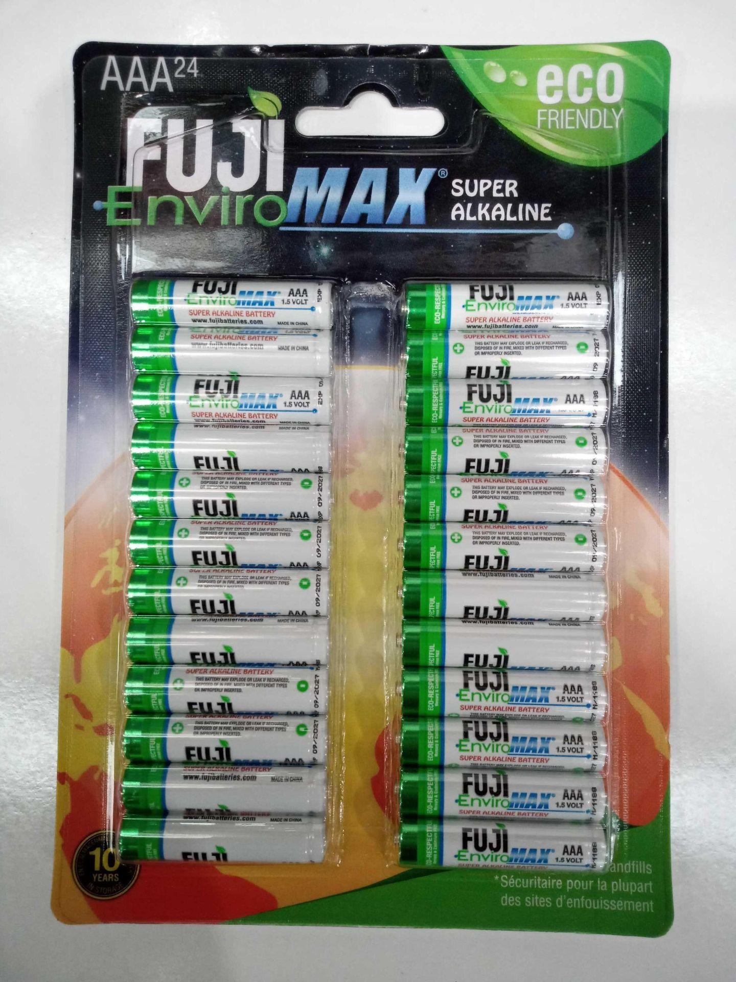 Lot 167 - Fuji Enviro Max Super Alkaline AAA Pack Of 24 Batteries