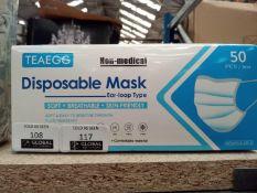 Box of 50 teaegg non-medical disposable face mask