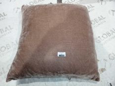 Lot to contain 3 Square Brown Scatter cushions