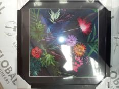 Multi coloured Floral wall art picture