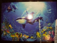 Boxed under the sea wall mural