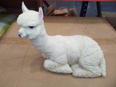 Boxed llama sculpture