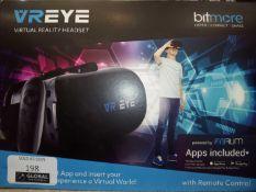 Boxed virtual reality headset