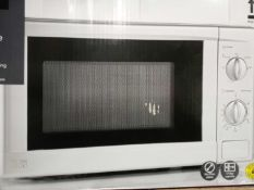 Boxed 700 W White Microwave