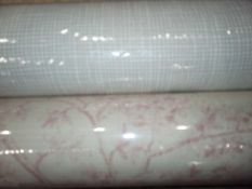 2 assorted rolls of designer wallpaper