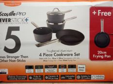 Boxed Scoville Pro Never Stick Super Strong Non-Stick 4 Piece Cookware Set