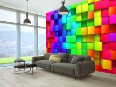 Bilder welten 3d wurfel wall mural