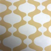 Lot a contain 2 exclusive yellow and white wall coverings wallpaper