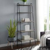 Boxed Calhoun Ladder White Wash Bookcase RRP £175 (18964) (Pictures Are For Illustration Purposes