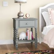 Boxed Borough Wharf Aoife 1 Drawer Bedside Table RRP £130 (18981) (Pictures Are For Illustration