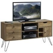 Boxed Williston Forge TV Stand Media Unit With Hairpin Legs RRP £160 (1627) (Pictures Are For